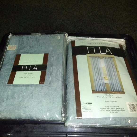 ella Other - Ella Tie Top Crushed Voile Curtain Panel 51 X 84